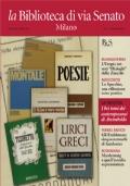La Biblioteca di via Senato, Milano : mensile di bibliofilia. Anno III, Numero 5, Maggio 2011