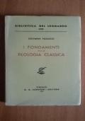 I fondamenti della filologia classica