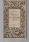 LA FILOSOFIA GRECA, PARTE PRIMA, VOLUME II
