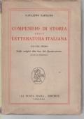 COMPENDIO DI STORIA DELLA LETTERATURA ITALIANA, DALLE ORIGINI ALLA FINE DEL 400