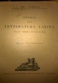 STORIA DELLA LETTERATURA LATINA Dalle origini al VI secolo