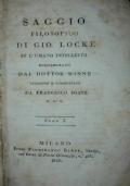 Saggio filosofico di Gio. Locke su l'umano intelletto. Compendiato dal dottor Winne