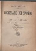 VOCABOLARIO DEI SINONIMI DELLA LINGUA ITALIANA A CURA DI G. FRIZZI
