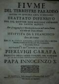 Fiume del terrestre paradiso. Diviso in quattro capi, o discorsi. Trattato difensivo del sig. dottor don Niccolò Catalano da Santo Mauro