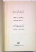CORRISPONDENZA fra ALEXIS DE TOCQUEVILLE e ARTHUR DE GOBINEAU (1843-1859)