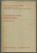 LIQUIDAZIONE COATTA AMMINISTRATIVA. ARTICOLI 194-215. LEGGE FALLIMENTARE A CURA DI F. BRICOLA - F. GALGANO - G. SANTINI