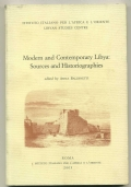 MODERN AND CONTEMPORARY LIBYA: SOURCES AND HISTORIOGRAPHIES