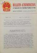 BULLETIN D'INFORMATION de l'Ambassade de la République Populaire de Chine - Berne - N. 265 le 2 mai 1968