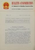 BULLETIN D'INFORMATION de l'Ambassade de la République Populaire de Chine - Berne - N. 276 le 3 octobre 1969