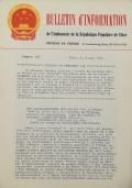 BULLETIN D'INFORMATION de l'Ambassade de la République Populaire de Chine - Berne - N. 288 le 23 avril 1970