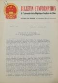 BULLETIN D'INFORMATION de l'Ambassade de la République Populaire de Chine - Berne - N. 273 le 14 août 1969