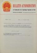 BULLETIN D'INFORMATION de l'Ambassade de la République Populaire de Chine - Berne - Numéro spécial du XXème Anniversaire de la Fondation de la République Populaire de Chine - le 27 septembre 1969