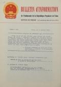 BULLETIN D'INFORMATION de l'Ambassade de la République Populaire de Chine - Berne - Numéro spécial du XIXème Anniversaire de la Fondation de la République Populaire de Chine - le 27 septembre 1968