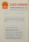 BULLETIN D'INFORMATION de l'Ambassade de la République Populaire de Chine - Berne - N. 253 le 2 janvier 1969