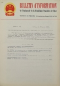 BULLETIN D'INFORMATION de l'Ambassade de la République Populaire de Chine - Berne - N. 259 le 12 mars 1969