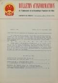 BULLETIN D'INFORMATION de l'Ambassade de la République Populaire de Chine - Berne - N. 237 le 10 juin 1968