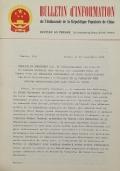 BULLETIN D'INFORMATION de l'Ambassade de la République Populaire de Chine - Berne - N. 244 le 10 septembre 1968