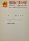 BULLETIN D'INFORMATION de l'Ambassade de la République Populaire de Chine - Berne - N. 153 le 18 août 1964