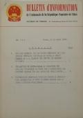 BULLETIN D'INFORMATION de l'Ambassade de la République Populaire de Chine - Berne - N. 151 le 1 juin 1964