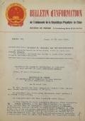 BULLETIN D'INFORMATION de l'Ambassade de la République Populaire de Chine - Berne - N. 150 le 21 avril 1964