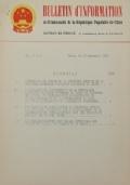 BULLETIN D'INFORMATION de l'Ambassade de la République Populaire de Chine - Berne - N. 263 le 25 avril 1969