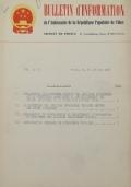 BULLETIN D'INFORMATION de l'Ambassade de la République Populaire de Chine - Berne - N. 145 le 17 décembre 1963