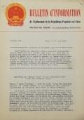 BULLETIN D'INFORMATION de l'Ambassade de la République Populaire de Chine - Berne - N. 134 le 31 octobre 1963