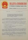 BULLETIN D'INFORMATION de l'Ambassade de la République Populaire de Chine - Berne - N. 304 le 17 décembre 1970