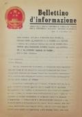 BOLLETTINO D'INFORMAZIONE Ambasciata della Repubblica Popolare Cinese nella Repubblica Italiana - Roma, lì 2 novembre 1971