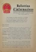 BOLLETTINO D'INFORMAZIONE Ambasciata della Repubblica Popolare Cinese nella Repubblica Italiana - Roma, il 3 dicembre 1971