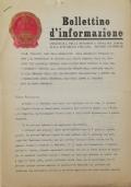 BOLLETTINO D'INFORMAZIONE Ambasciata della Repubblica Popolare Cinese nella Repubblica Italiana - Roma, il primo Dicembre 1971