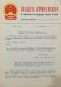 BOLLETTINO D'INFORMAZIONE Ambasciata della Repubblica Popolare Cinese nella Repubblica Italiana - Roma, il 27 Dicembre 1971