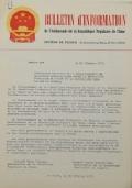 BULLETIN D'INFORMATION de l'Ambassade de la République Populaire de Chine - Berne - N. 301 le 12 novembre 1970