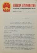 BULLETIN D'INFORMATION de l'Ambassade de la République Populaire de Chine - Berne - N. 309 le 11 mars 1971