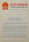 BULLETIN D'INFORMATION de l'Ambassade de la République Populaire de Chine - Berne - N. 310 le 15 mars 1971