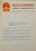 BULLETIN D'INFORMATION de l'Ambassade de la République Populaire de Chine - Berne - N. 300 le 6 novembre 1970