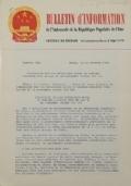 BULLETIN D'INFORMATION de l'Ambassade de la République Populaire de Chine - Berne - N. 270 le 2 juillet 1969