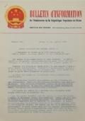 BULLETIN D'INFORMATION de l'Ambassade de la République Populaire de Chine - Berne - N. 280 le 23 octobre 1969
