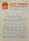 BULLETIN D'INFORMATION de l'Ambassade de la République Populaire de Chine - Berne - N. 283 le 1er janvier 1970
