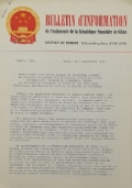BULLETIN D'INFORMATION de l'Ambassade de la République Populaire de Chine - Berne - N. 294 le 22 juillet 1970