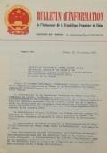 BULLETIN D'INFORMATION de l'Ambassade de la République Populaire de Chine - Berne - N. 296 le 1 septembre 1970