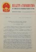 BULLETIN D'INFORMATION de l'Ambassade de la République Populaire de Chine - Berne - N. 298 le 15 octobre 1970