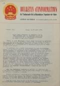 BULLETIN D'INFORMATION de l'Ambassade de la République Populaire de Chine - Berne - N. 297 le 15 septembre 1970
