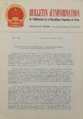 BULLETIN D'INFORMATION de l'Ambassade de la République Populaire de Chine - Berne - N. 287 le 9 avril 1970