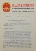 BULLETIN D'INFORMATION de l'Ambassade de la République Populaire de Chine - Berne - N. 230 le 28 avril 1970