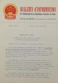 BULLETIN D'INFORMATION de l'Ambassade de la République Populaire de Chine - Berne - N. 284 le 4 février 1970