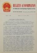 BULLETIN D'INFORMATION de l'Ambassade de la République Populaire de Chine - Berne - N. 291 le 5 mai 1970