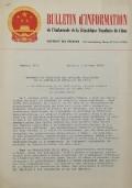 BULLETIN D'INFORMATION de l'Ambassade de la République Populaire de Chine - Berne - N. 289 le 25 avril 1970