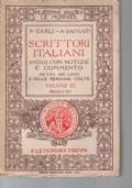 SCRITTORI ITALIANI SAGGI CON NOTIZIE E COMMENTO