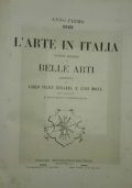 L'arte in Italia. Anno primo - 1869